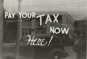 Pay Your Tax Here Sign