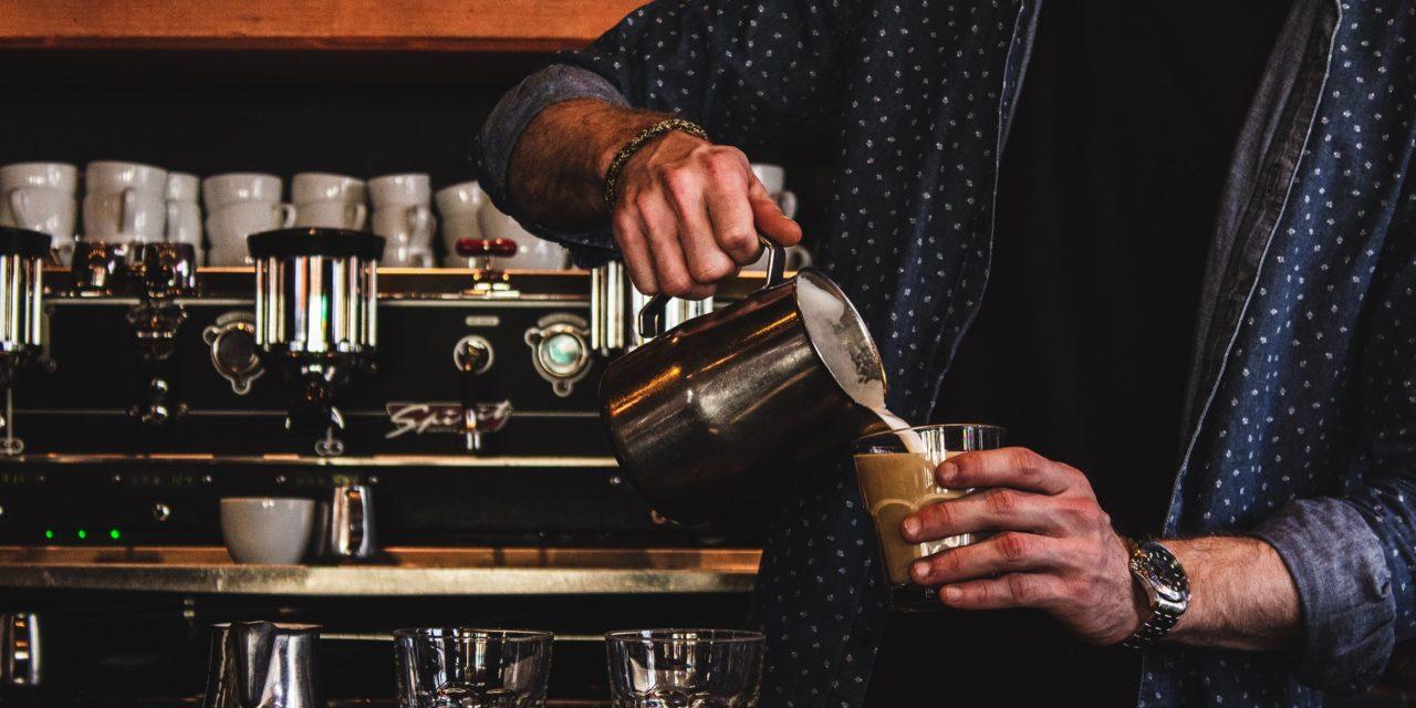 Coffee Shop Employee Making Latte